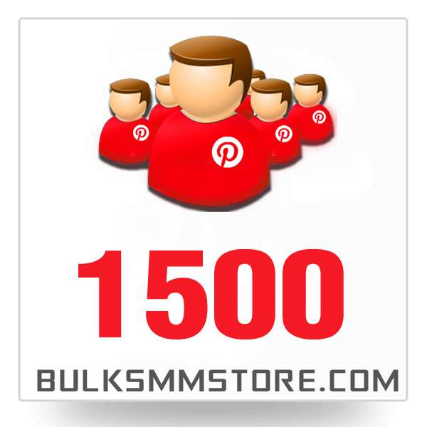 Real 1500 Pinterest Followers