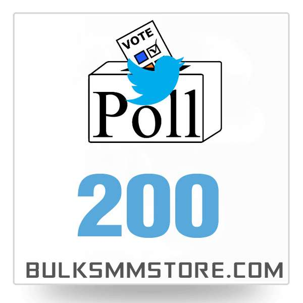 Real 200 Twitter Poll Votes