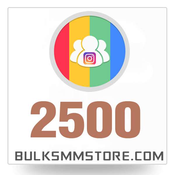 Real 2500 Instagram Followers