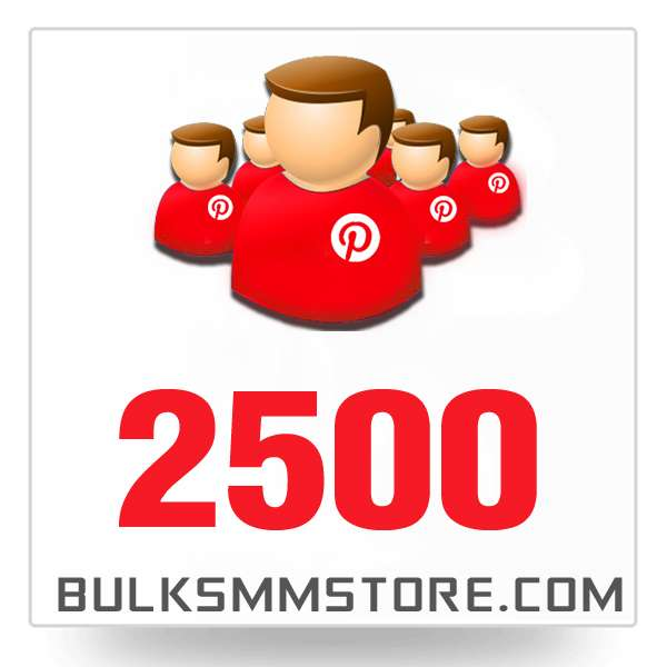 Real 2500 Pinterest Followers