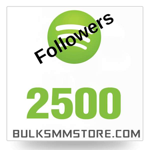 Real 2500 Spotify followers