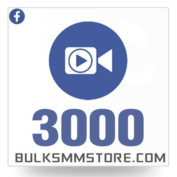 Real 3000 Facebook Video Views