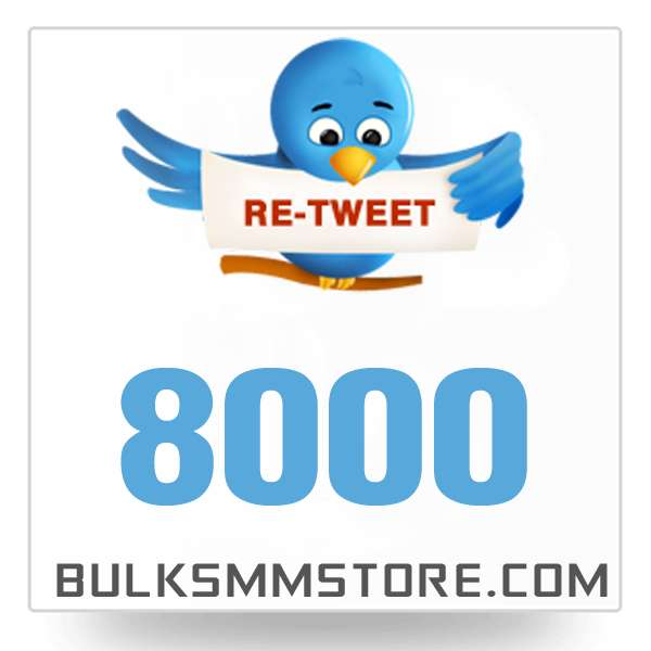Real 8000 Twitter Retweet