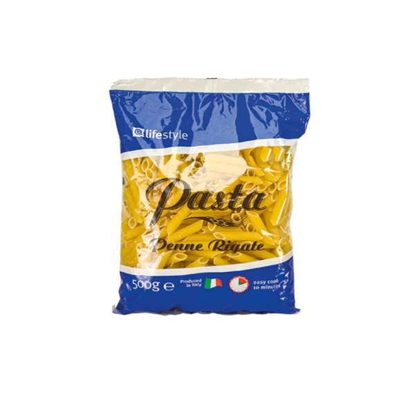 Lifestyle Pasta Penne Rigate 500g