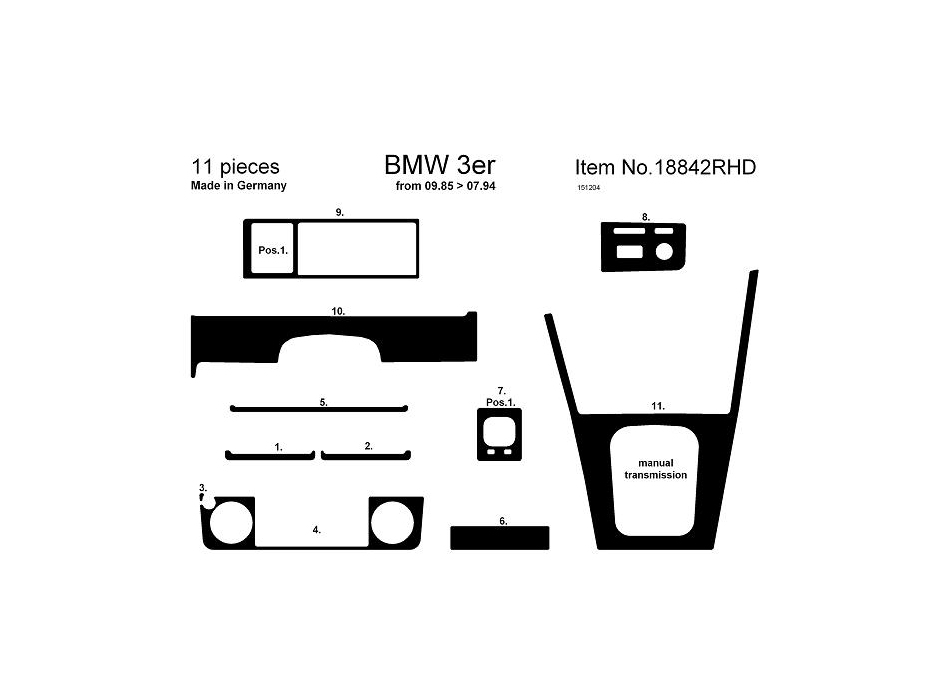 BMW E30 Dashboard Parts Diagram. BMW. Wiring Diagrams