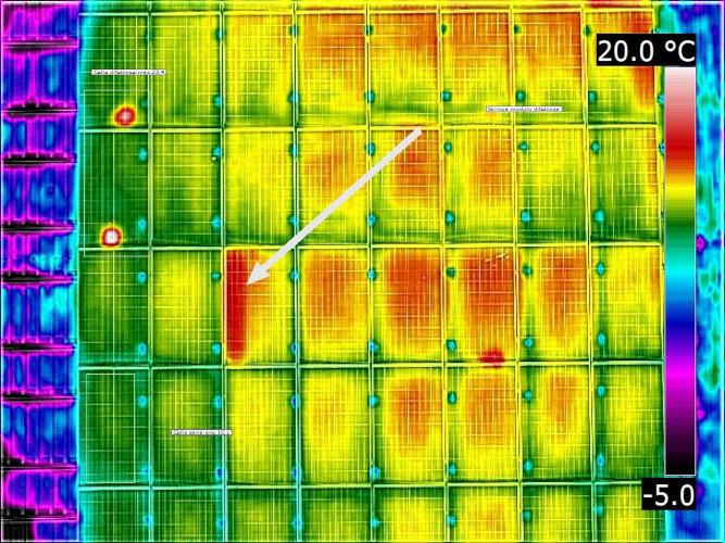 Termografica pannelli solari