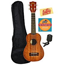 Kala KA-15S Mahogany Soprano Ukulele Bundle with Gig Bag