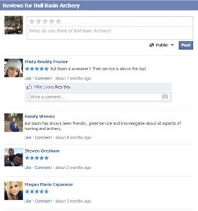 Reviews on Facebook!