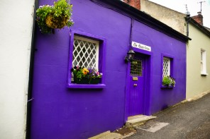 I live in the crooked purple house