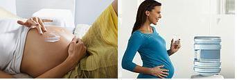 Hidratar por dentro e por fora é importante para (tentar) evitar as estrias na gravidez.