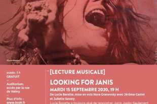 Lecture musicale Looking for Janis au Palais des Beaux Arts de Lille affiche