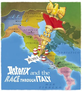 Asterix and the Chariot Race image Italy map