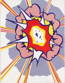 POP ART - ICONS THAT MATTER. COLLECTION DU WHITNEY MUSEUM OF AMERICAN ART image Roy Lichtenstein Explosion