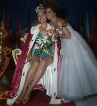 Miss Universe 1959 Being Crowned by Predecessor