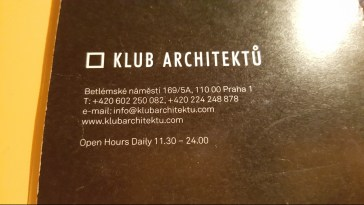 Restaurant KLUB ARCHITEKTŮ à Prague