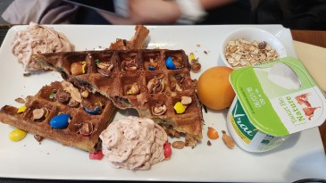 Brunch à la Gaufrerie à Paris - Gaufre M&M's