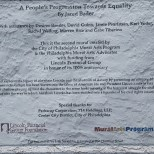 A People's Progression Toward Equality credits