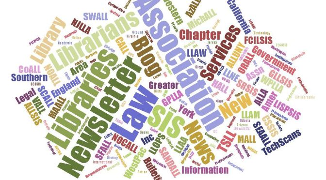 AALL publications word cloud