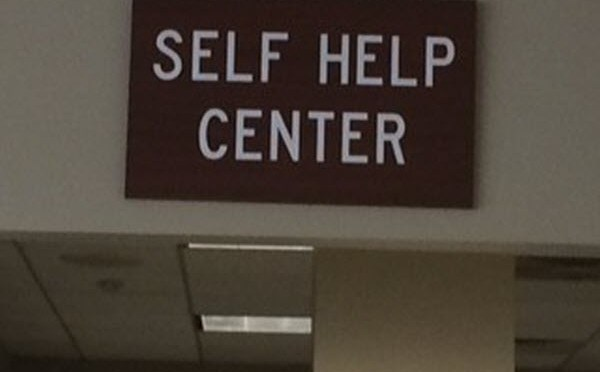 Image of DuPage County Library Self Help Sign