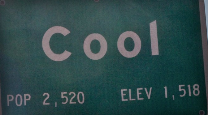 Sign that says cool