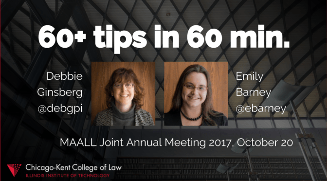 Sixty Tech Tips at MAALL Joint Meeting