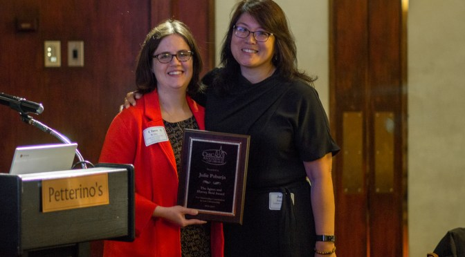 Julie Pabarja Receives Agnes and Harvey Reid Award