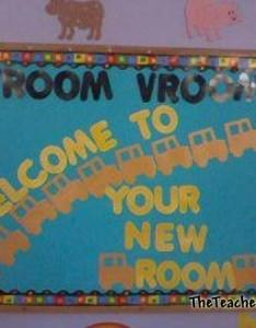 Vroom welcome to your new room also fall  back school bulletin board ideas rh bulletinboardseteacherscorner