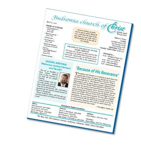free church bulletin articles