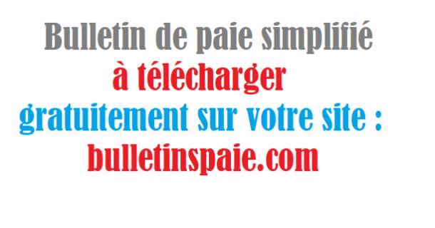 telecharger bulletin de paie simplifi u00e9 excel 2018