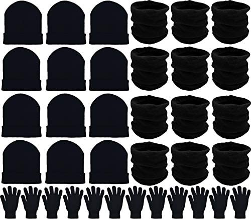 36x Winter Gloves, Beanies, Neck Warmers Unisex Bulk Pack Donation Charity Care Bundle