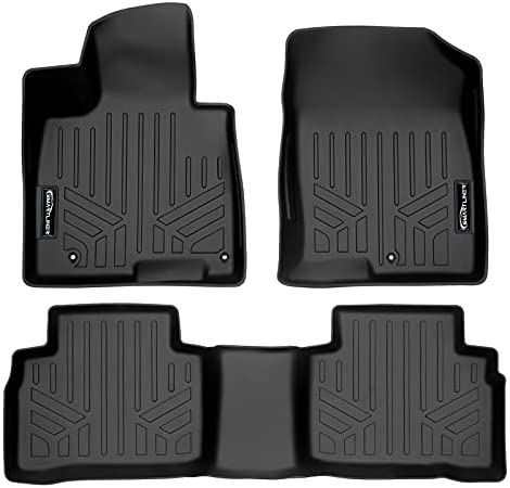 SMARTLINER All Weather Custom Fit Black 2 Row Floor Mat Liner Set Compatible with 2022 Hyundai Tucson