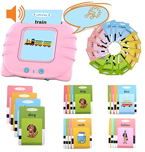 arkiden Learning Toys for 2 3 4 Years Old Boys 112 Talking Baby Flash Cards, Birthday Gifts for 2-4 Years Old Boys Girls Preschool Educational Resource Electronic Toddler Games Interactive Toys
