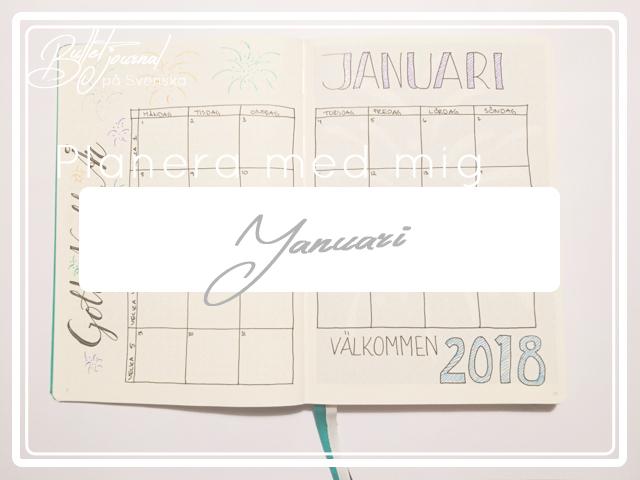 Planera med mig – Januari i min Bullet Journal