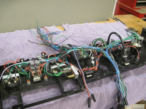 small resolution of the wires coming from the top of the dash go to various other parts of the car