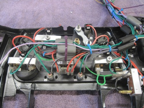 small resolution of then terminated all the wires going elsewhere into three circular connectors one each for the cables going to the new power module the front of the car