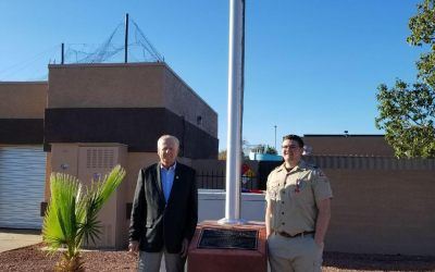 Ken Fovargue Park Flagpole Dedication