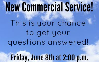 Q&A Session on the New Commercial Service!