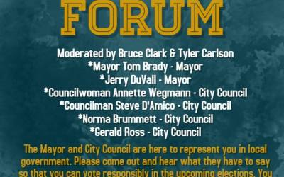 Candidate Forum – Wednesday, July 25th!