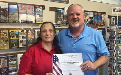 VFW Awards Letter Of Appreciation to Chamber