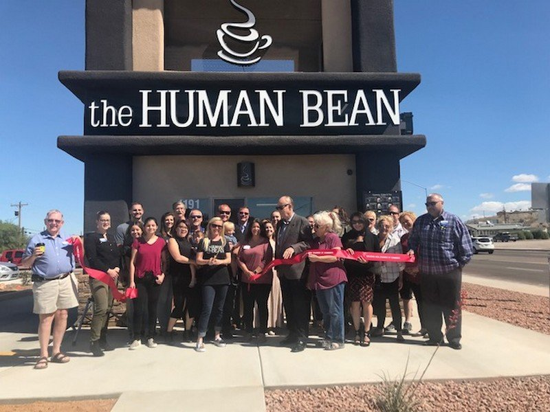 Chamber Welcomes the Human Bean With A Ribbon Cutting
