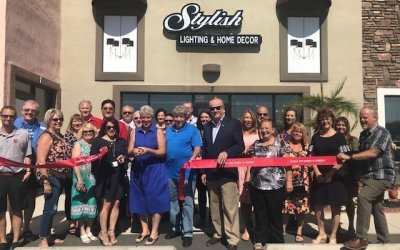 Stylish Lighting and Home Decor Ribbon Cutting