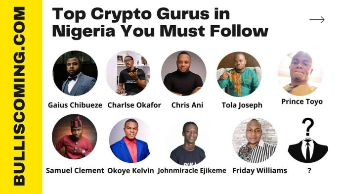 List of Top Crypto Gurus in Nigeria You Have to Follow