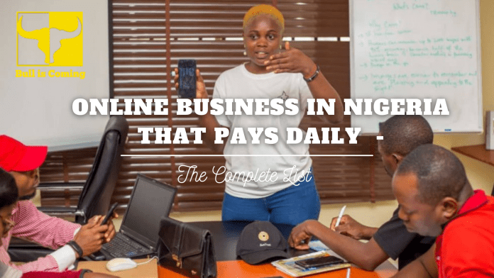 Online Business in Nigeria that pays Daily   The Complete List