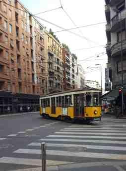 Mailand gelbe Tram
