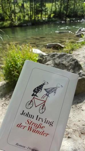 am Rhein mit John Irving