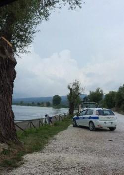Lago di Bolsena Parklplatz mit Polizei