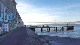Brücke 25. April Cacilhas Lissabon