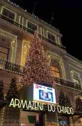 Weihnachtsbeleuchtung Lissabon