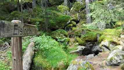 Eisloch Via Spluga nahe Sufers