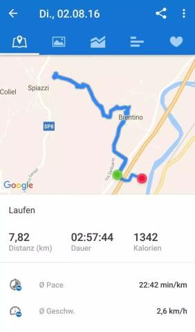 Strecke Wanderweg Madonna della Corona